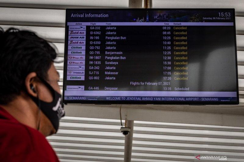 Banjir Semarang, Berdampak 21 Jadwal Penerbangan Bandara Setempat