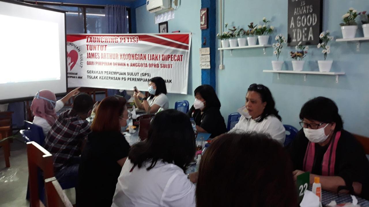 Sejumlah Organisasi Perempuan Teken Petisi Desak James Arthur Dipecat dari DPRD Sulut